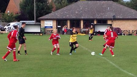 Action from March Town Ladies' game with Riverside Ladies Reserves.