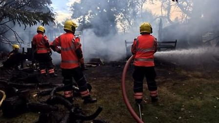 Fire at Weirs Drove in Burwell.