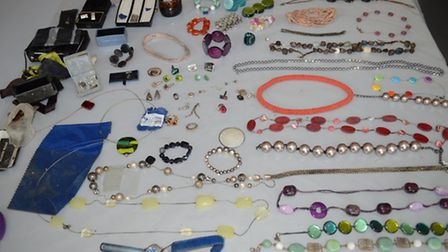 Jewellery that was found in the River Cam on Friday August 26.