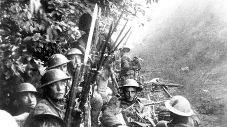 A still from The Battle of the Somme film.