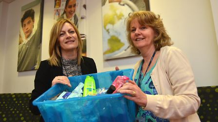 'Essentials by Sue' project, run by (left) Sue Loaker, Crime Reduction Officer for East Cambridgesh