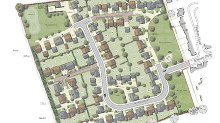 Site layout for the 57 homes proposed for Manea