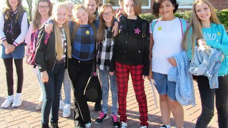 Children at Cromwell Community College raise money for Jeans for Genes Day 2016.