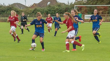 Action from Park Ladies' clash with Northampton Town.