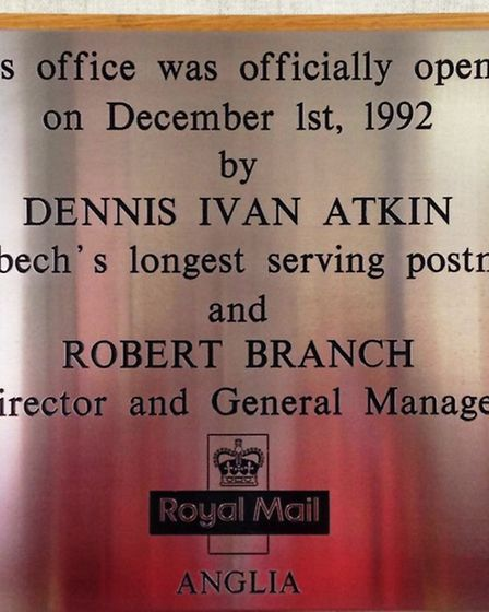 Dennis Atkin was the longest serving postman wiht the Royal mail in Wisbech where he worked for 50 y