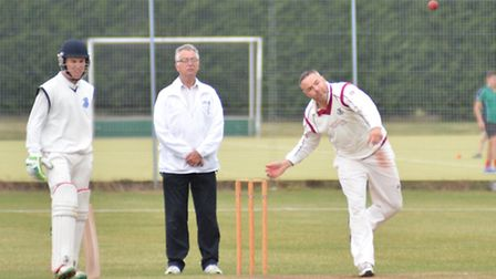James Harradine helped March Town dismiss St Ives for just 124 as they sealed promotion back to the