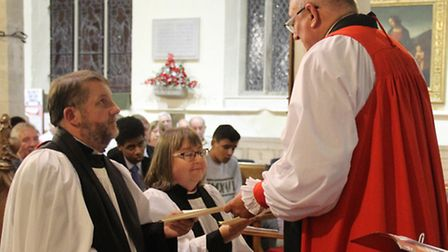 Rev Ian and Lynda Brady are welcomed to the Fens in a service at Doddington