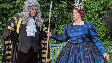 Fairy Queen and Lord Chancellor in 'Iolanthe'.