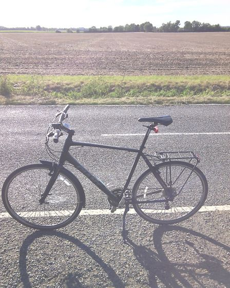 The bike that Olly completed the challenge with.