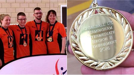 The Fen Tigers Goalball team scooped gold medals at the Region B Intermediate tournament recently.