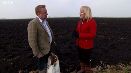 Corkers owner, Ross Taylor and Nicki Chapman on Escape to the Countryside.