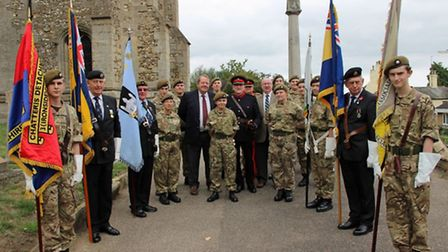 Residents, members of the Royal British Legion (RBL), Cambridgeshire Army Cadets and members of the
