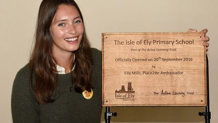 Official opening of the new Isle of Ely School Ella Mills opened the school