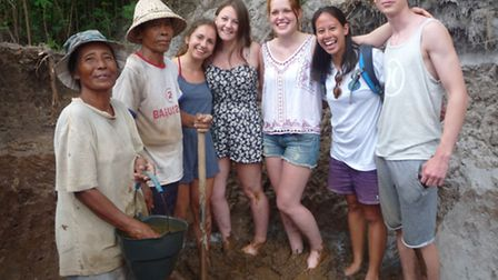 Biology students from Felsted studied about the loocal ecology of Bali.