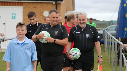 Referees step out for a charity football match in Whittlesey raising funds for baby James Overland