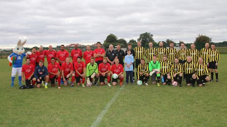 Charity football match in Whittlesey raising funds for baby James Overland by RWT Photography