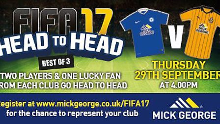 Stars from Cambridge United and Peterborough United will go head-to-head to mark the launch of FIFA
