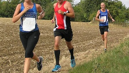 Grange Farm and Dunmow Runners' Danielle Robertson leading the way