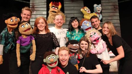 Viva's 'Avenue Q' cast from 2015 who performed locally at The Brook and The Maltings Ely before head