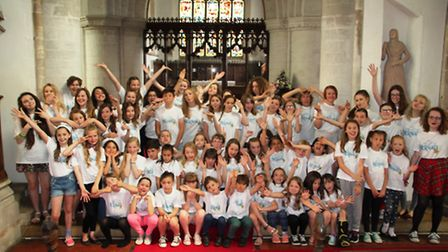 'The Little Mermaid' cast who performed at St Andrew's Church this summer.