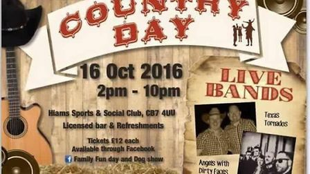Charity Country Day at Hiam Sports & Social Club, Prickwillow.