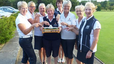 Ely City Golf Club Ladies with the Jean Wilkinson Trophy.