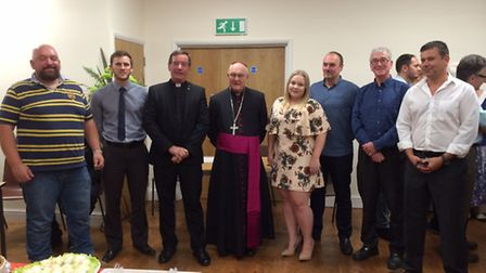 The opening of the new hall at Our Lady's Catholic in March.