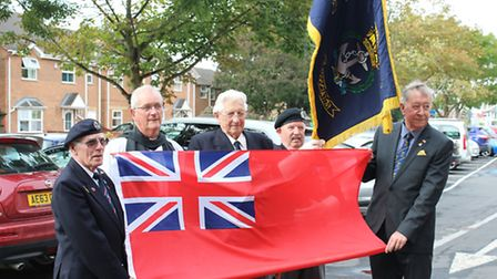 The Red Duster is raised in March to mark Merchant Navy Day.
