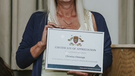 Christine Emmings from Stretham wins foster carer award