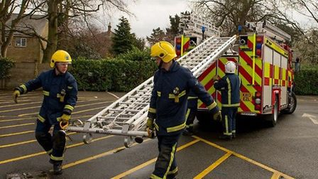Fire close to animal sheds at farm in Stretham requires three crews to put it out