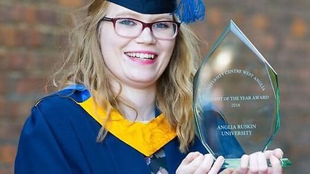 Rosanna Day, 22, from March, has been named University Centre West Anglia's Student of the Year 2016