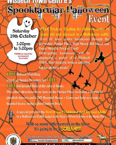 Horsefair shopping centre in Wisbech hosts its annual Halloween event