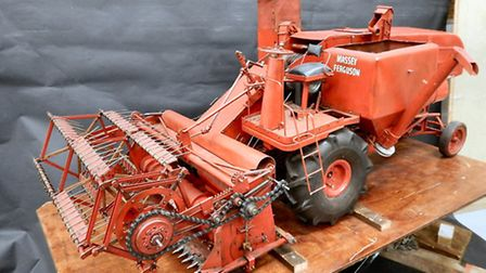 Model Massey Ferguson was one of more than £1 million worth of vintage tractors, steam engines, cla