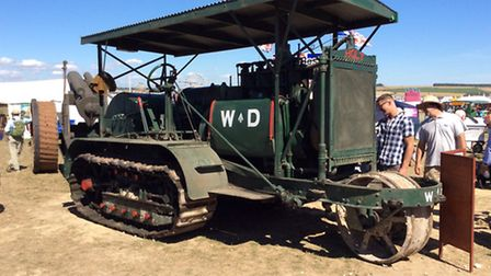 Holt was one of more than £1 million worth of vintage tractors, steam engines, classic vehicles an