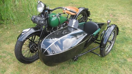 Harley Davidson was one of more than £1 million worth of vintage tractors, steam engines, classic v