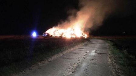 Reward offered for information about Haddenham straw fire that caused £25,000 of damage.