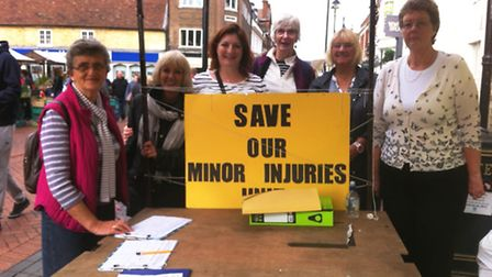 Ely market:Petition to save Minor Injury Units in Doddington, Wisbech and Ely