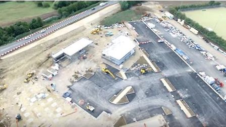 Work to build Ely's new £13.6 million leisure complex is well underway.