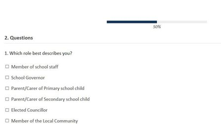 A survey to see what parents, teachers and residents think to a proposed secondary school in Wisbech