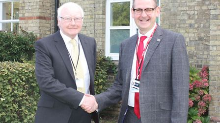 Alan Culley, head of governors for Upwell and David Pomfret, chief executive of the CWA Academy Trus
