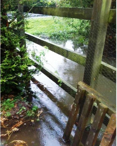 Neighbour Mick French sent FDC these photos showing flooding at development site in 2014
