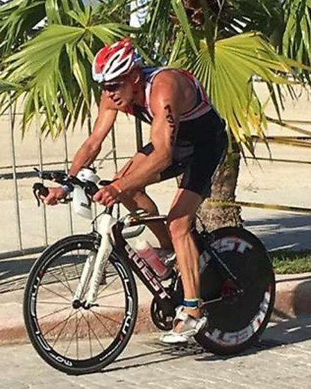 Andy Bourne in action at the World Age Triathlon Championship in Mexico