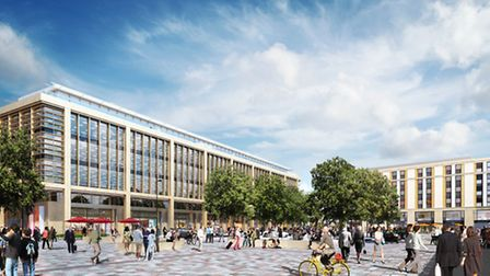 The new Station Square will open at Cambridge rail station on Monday October 17.