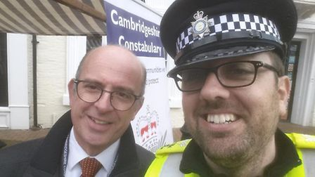 Depute Police and Crime Commissioner, Andy Coles and Sergeant Phil Priestley.