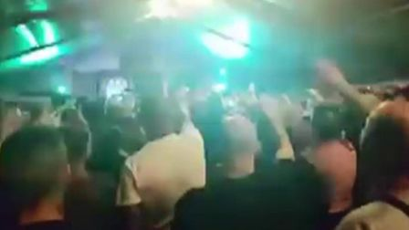 Images from the video leaked to the BBC of the Neo-Nazi rally at a field at Haddenham near Ely