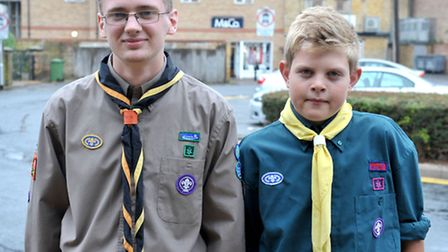 March Scouts, Left: James Richardson and Aaron Spencer. Picture: Steve Williams.