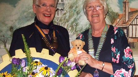 Ely president Mary Rone (left). District 8 chairman Jenny Childerhouse (right)