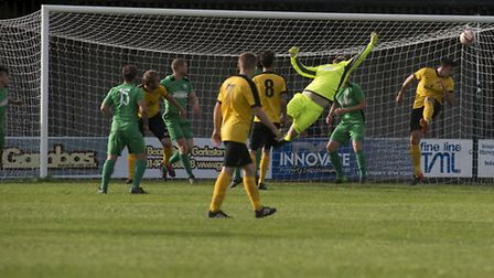FA Vase Action between Gorleston and March Town.PHOTO: Nick Butcher