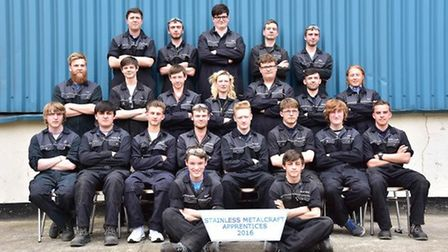 Current apprentices at Stainless Metalcraft, Chatteris.