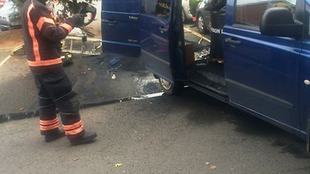 One fire crew was called to a van fire in March on October 19.